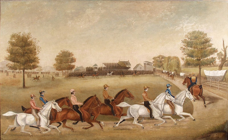 first-painting-of-trotting-race